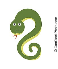 Funny snake character