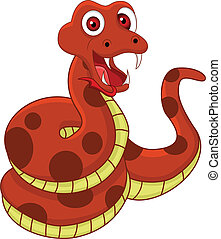 funny snake - vector illustration of funny snake