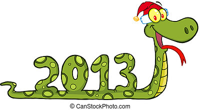 Funny Snake Showing Numbers 2013