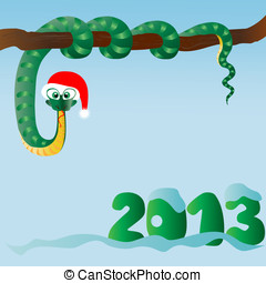 Funny snake (symbol of 2013 year)