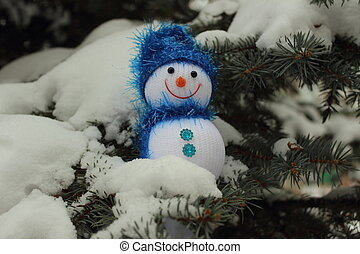 Funny snowman Christmas tree