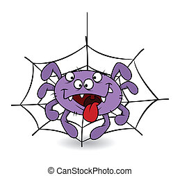 Funny Spider Laughing Vector