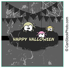 Funny Spiders Halloween Graphic