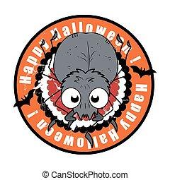 Funny Spooky Halloween Spider