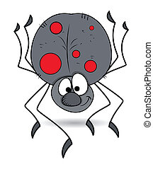 Funny Spotted Spider Vector