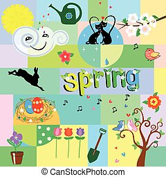Funny spring background