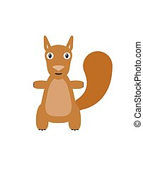 Funny squirrel character