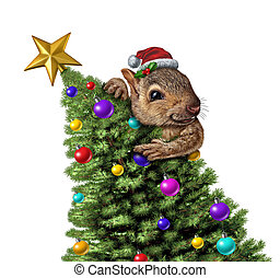 Funny Squirrel Christmas Tree