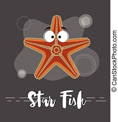 Funny Starfish Character