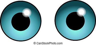 Funny Staring Cartoon Comic Eyes