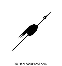 Funny stork black silhouette for your design