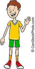 funny teen boy character cartoon illustration