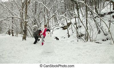 Teenage Couple Enjoying in Snow