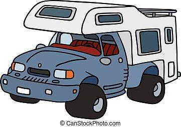 Funny terrain caravan