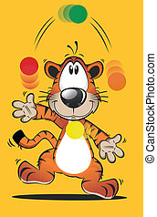 Funny Tiger Cartoon 2