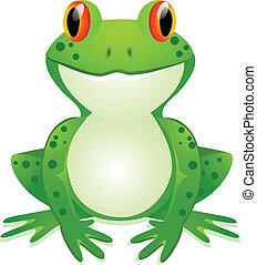 Funny toad cartoon