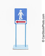 toilet sign of a man