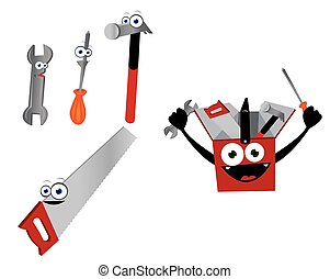 Funny Tools - A vector cartoon representing some funny...