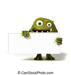 Funny toon bacteria - 3d rendered illustration of a funny...