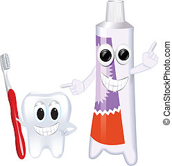 FUNNY TOOTHPASTE AND TOOTHBRUSH