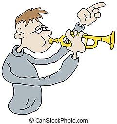 Funny trumpetist