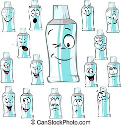 funny tube cartoon - vector illustration