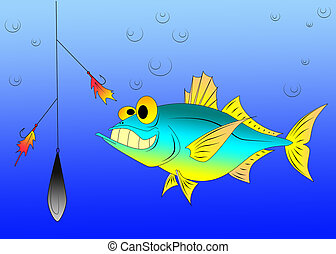 funny tuna - fish, minnow, sea, ocean, fishing, ruff,