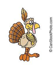 Funny Turkey Bird - Cartoon Modern Fashionable Funny...