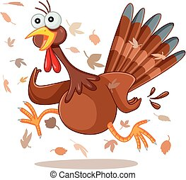 scared turkey funny vector cartoon eps illustration of vector rh canstockphoto ca Turkey with Axe Clip Art Turkey with Axe Clip Art