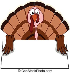 Funny turkeys - turkey with begging eyes (place your text on...