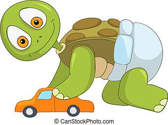 Funny Turtle. Baby Boy.