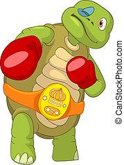 Funny Turtle. Boxer.