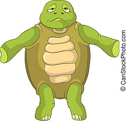 Funny Turtle. Confusion.