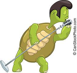 Funny Turtle Singing.