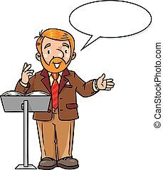 Funny university lecturer or teacher - Childrens vector...