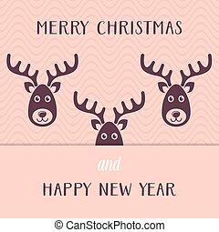 Funny vector christmas card