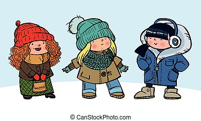 Funny vector fashion-mongers
