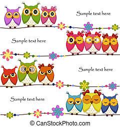 Funny Vector owls