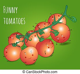 funny vegetables cherry tomatoes