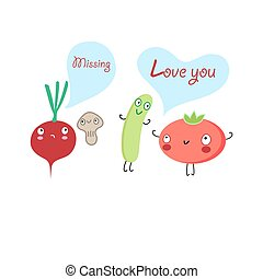 Funny vegetables lovers