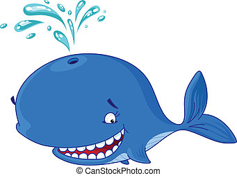 funny whale - An illustration of a whale