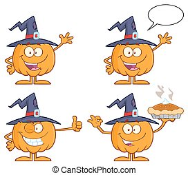 Funny Witch Pumpkin Collection 1