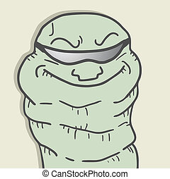 Funny worm - Creative design of funny worm