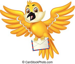 Funny Yellow Bird Cartoon