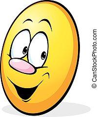 funny yellow easter egg cartoon