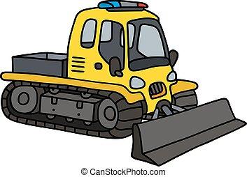 Funny yellow snowplow