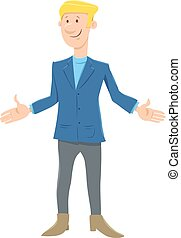 funny young businessman cartoon character