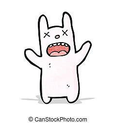 funny zombie cartoon rabbit
