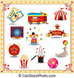 funy, circo, icone