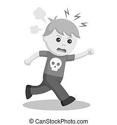 funzionamento ragazzo, espressione, arrabbiato